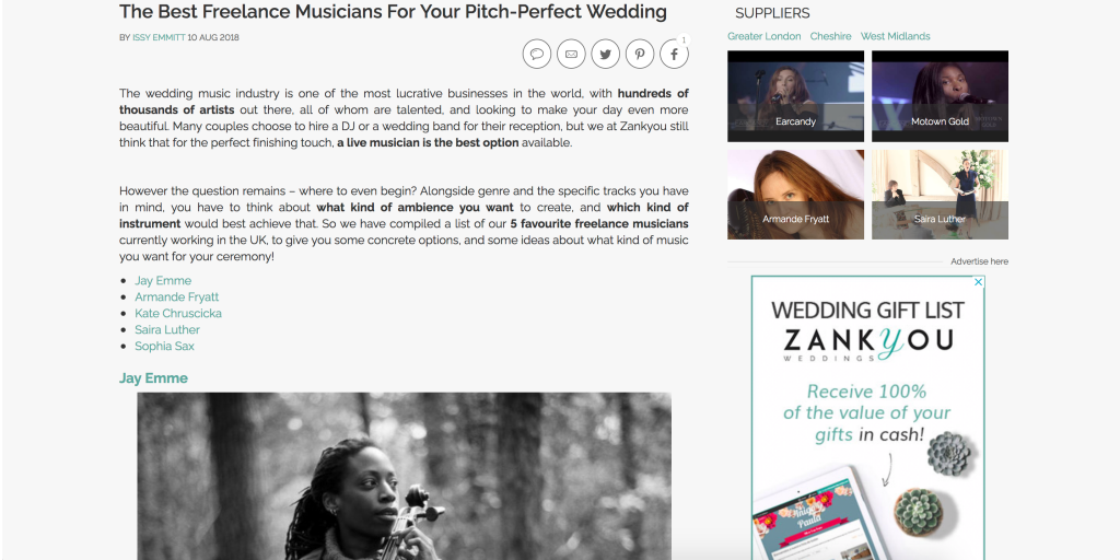 The Best Freelance Musicians For Your Pitch-Perfect Wedding