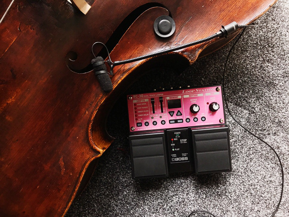 Cello, DPA Microphone, and Boss RC30 Loop Pedal