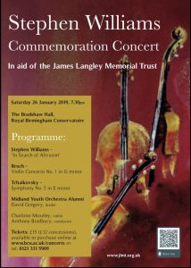 Stephen Williams Commemoration Concert